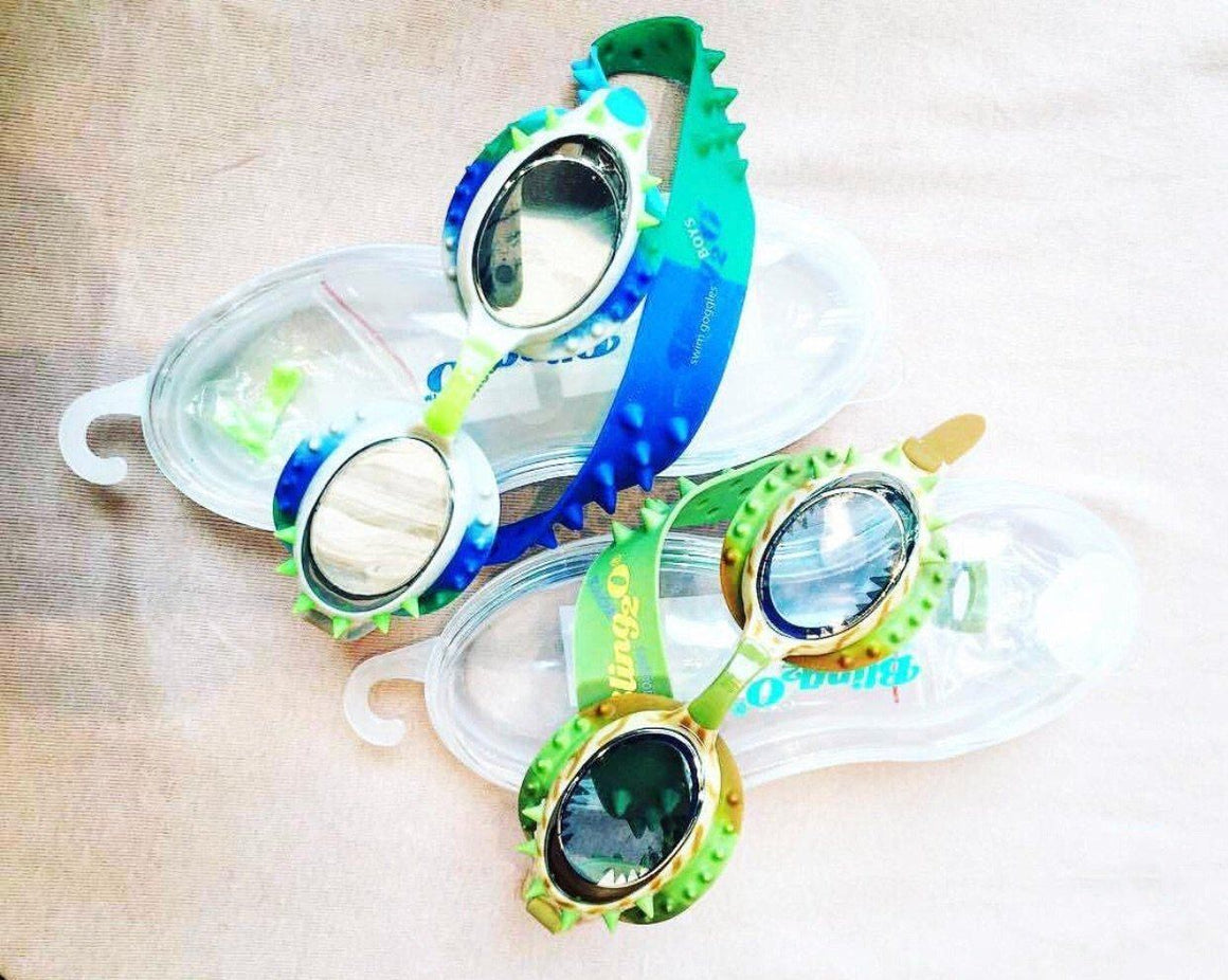 BLING2o GOGGLES - PREHISTORIC DINO-MITE BLUE