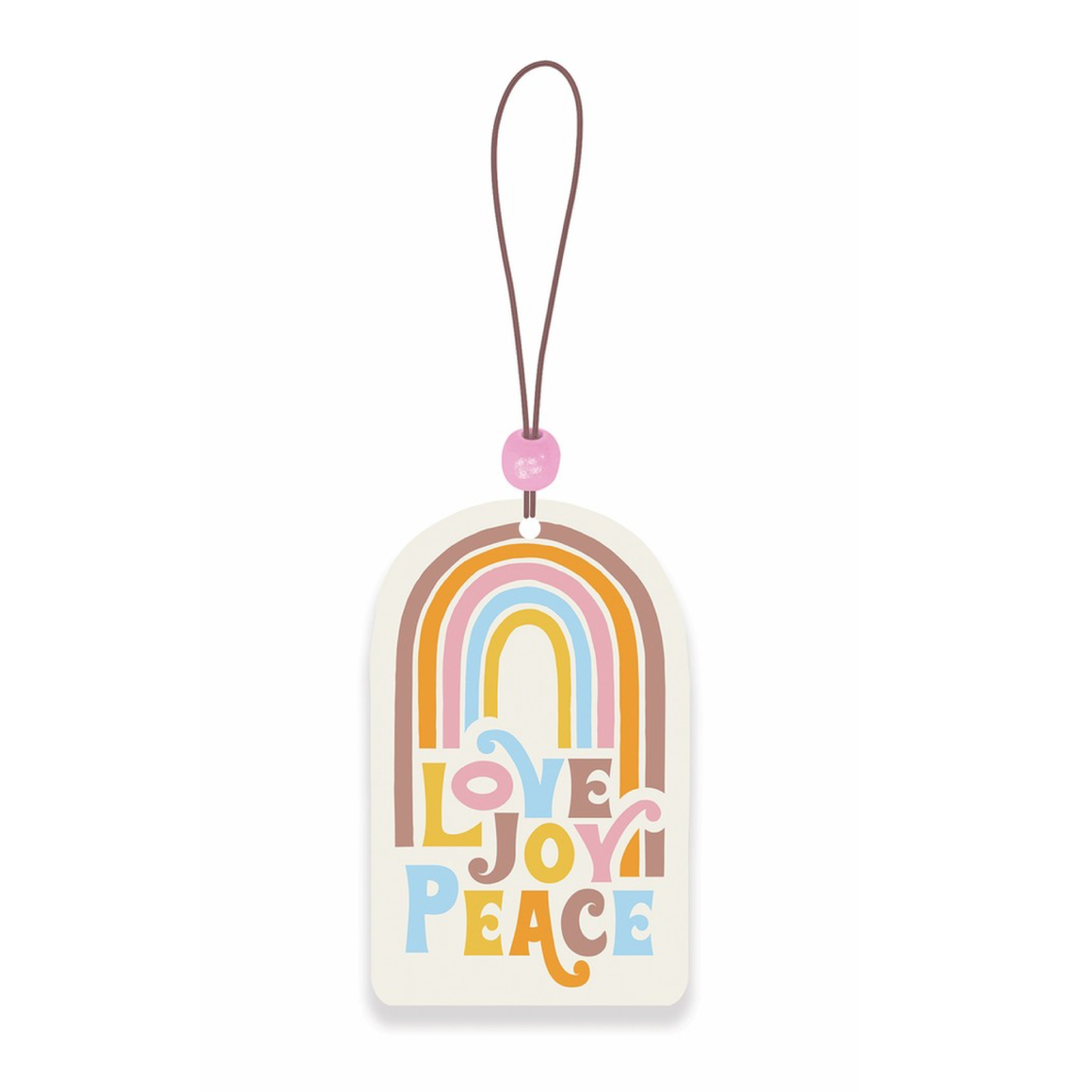AIR FRESHENER - RETRO RAINBOW LOVE JOY PEACE