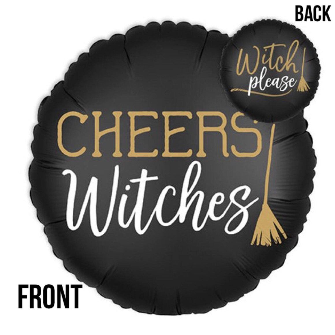 BALLOONS - CHEERS WITCHES 2-SIDED, Balloons, Anagram - Bon + Co. Party Studio