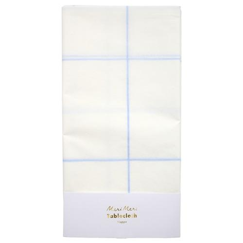 TABLECOVER - BLUE GRID, tablecovers, MERI MERI - Bon + Co. Party Studio