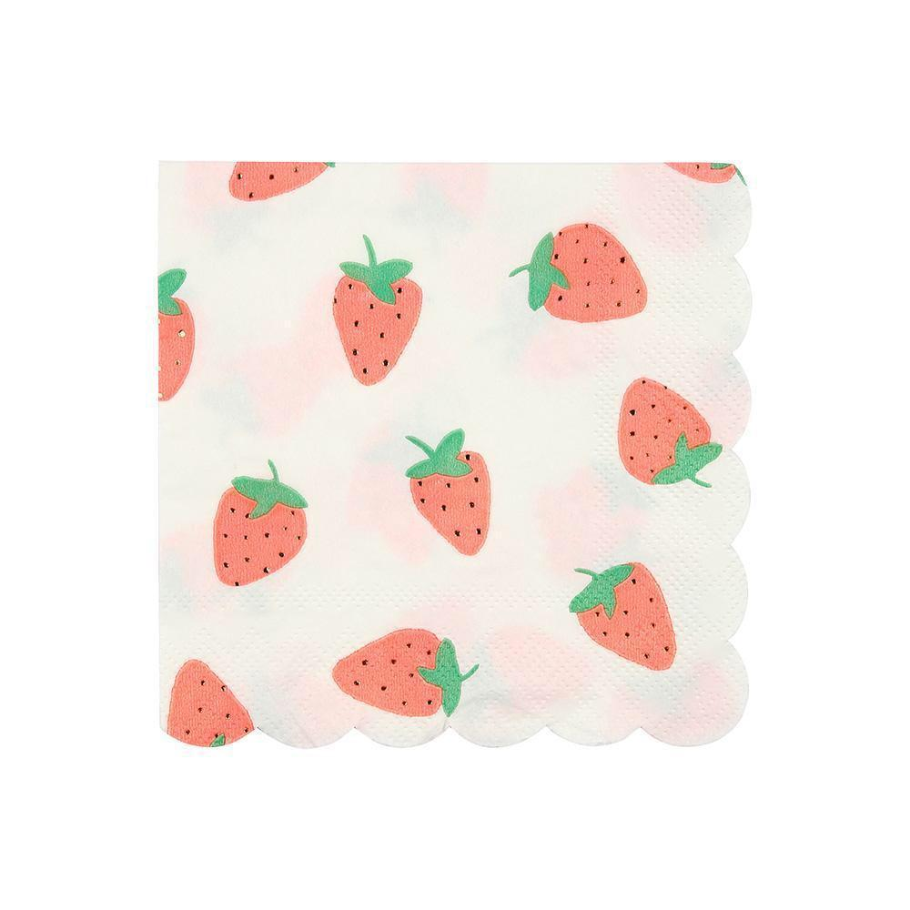 NAPKINS - COCKTAIL STRAWBERRY