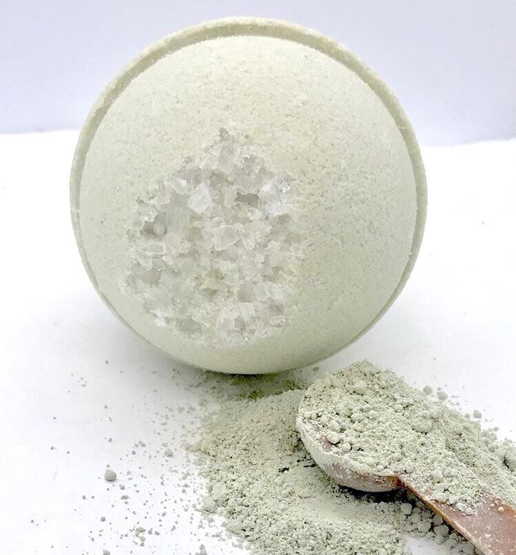 ARTISAN BATH BOMB - GREEN CLAY + LEMONGRASS, BATH, Crafted Bath - Bon + Co. Party Studio