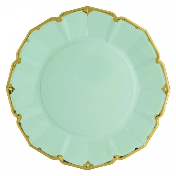 PLATES - DINNER SCALLOPED MINT
