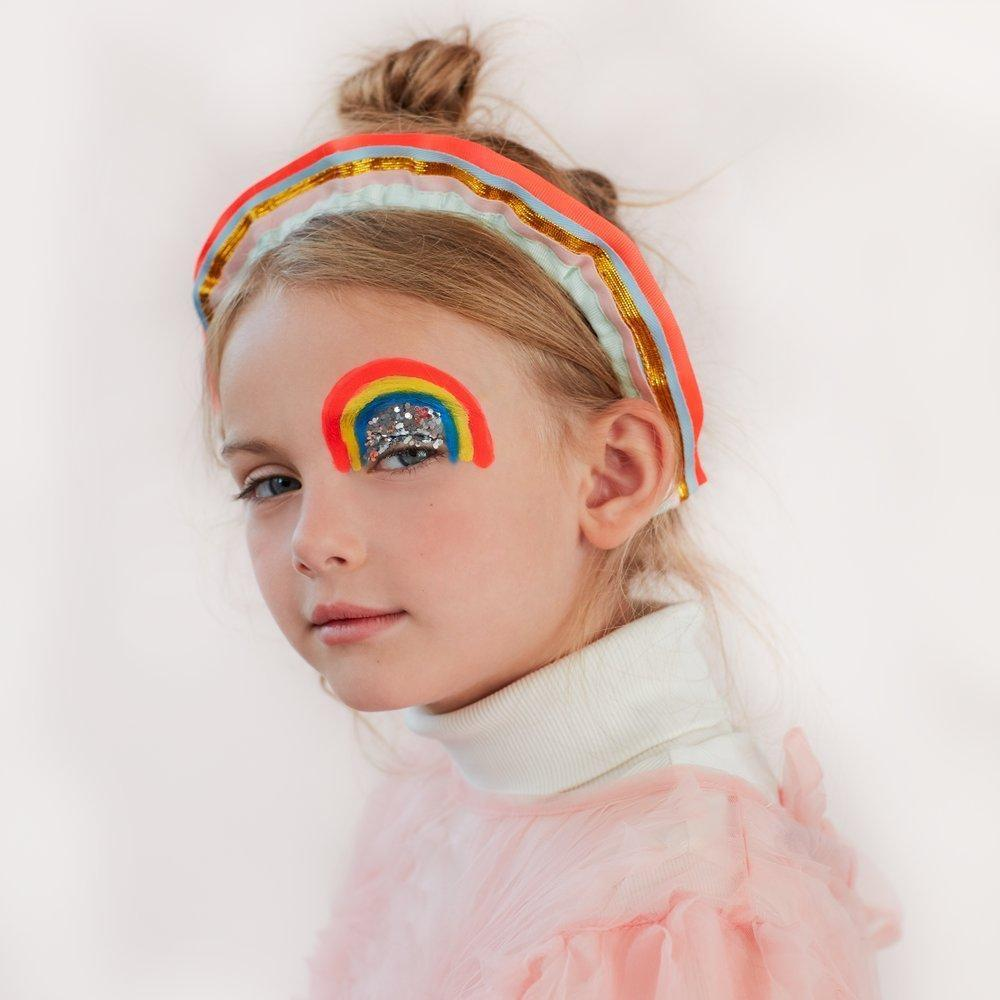 ACCESSORIES - RAINBOW RUFFLE HEADBAND, ACCESSORIES, MERI MERI - Bon + Co. Party Studio
