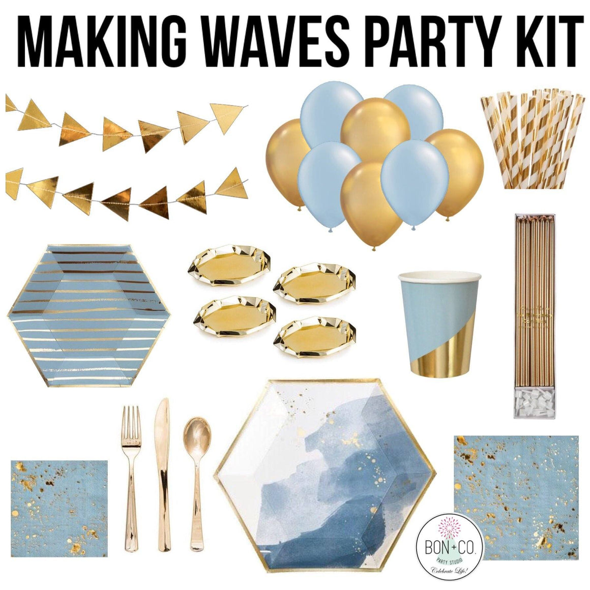 PARTY KIT - MAKING WAVES, Party Kit, Bon + Co. Party Studio - Bon + Co. Party Studio
