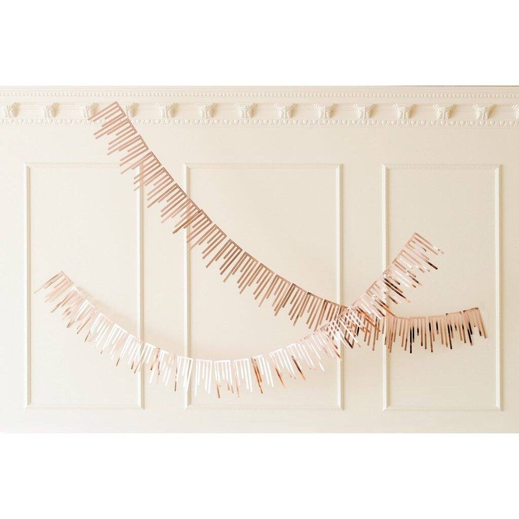 BUNTING - ROSE GOLD CASCADE 2 PACK, Buntings, HARLOW & GREY - Bon + Co. Party Studio