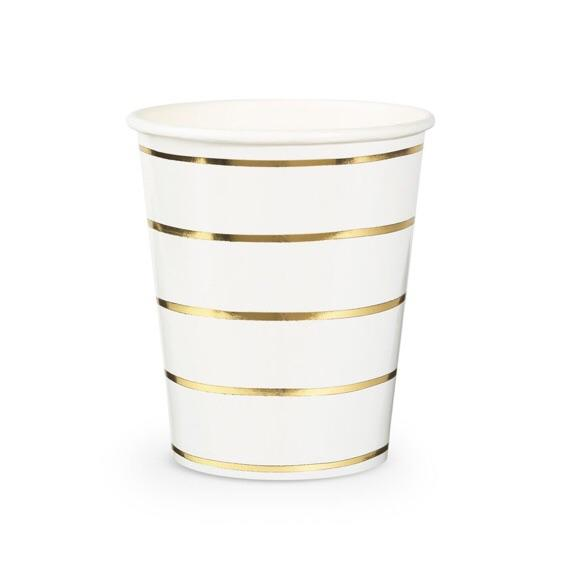 CUPS - DAYDREAM SOCIETY FRENCHIE STRIPES GOLD, CUPS, Daydream Society - Bon + Co. Party Studio