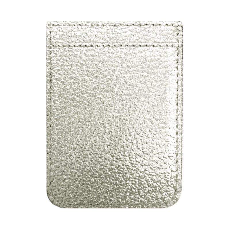 TECH - PHONE POCKET SILVER LEATHER