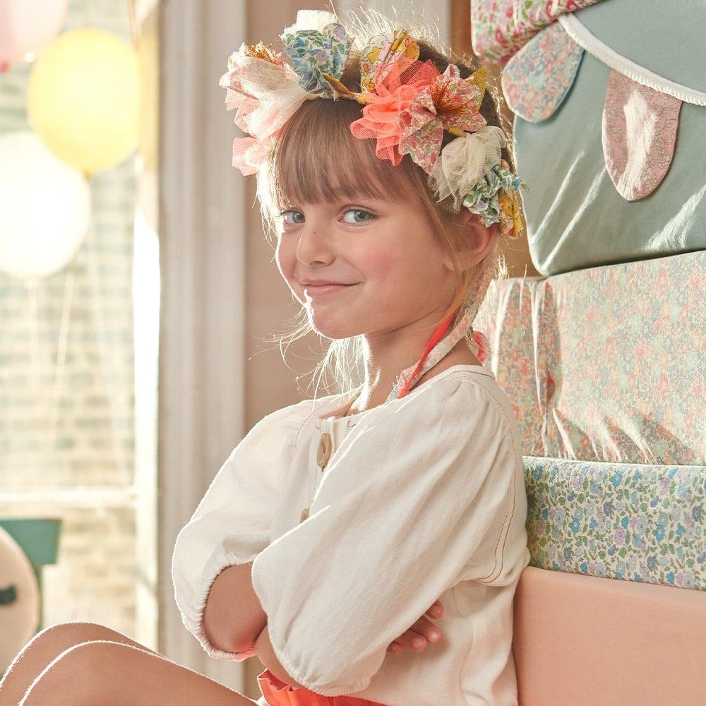 ACCESSORIES - FLORAL FABRIC HALO CROWN