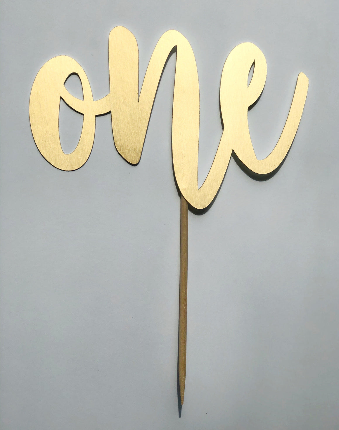 CAKE TOPPER - ONE GLITTER MATTE GOLD