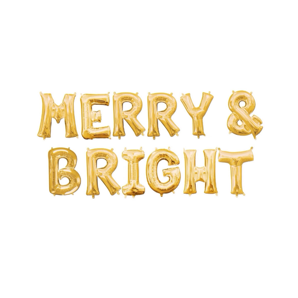 BALLOON BANNER - MERRY & BRIGHT GOLD, Balloons, Northstar (Surprize Enterprize) - Bon + Co. Party Studio