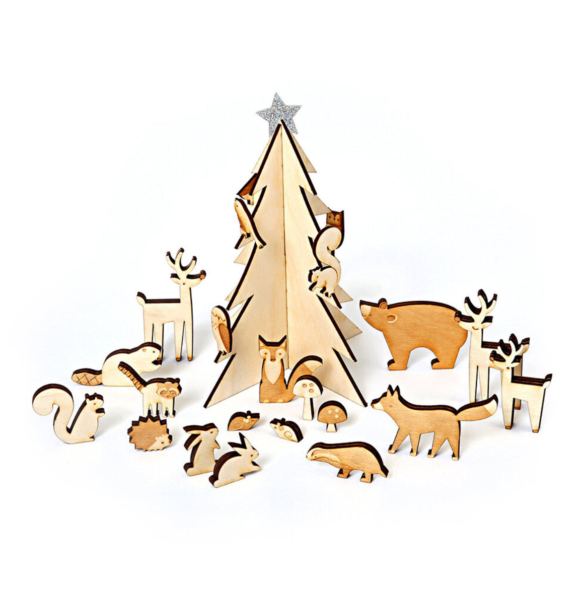 ADVENT CALENDAR - WOODEN ANIMAL SET