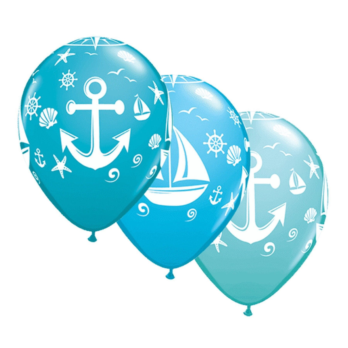 "BALLOON BAR - SEA LIFE NAUTICAL 11"", Balloons, QUALATEX - Bon + Co. Party Studio"