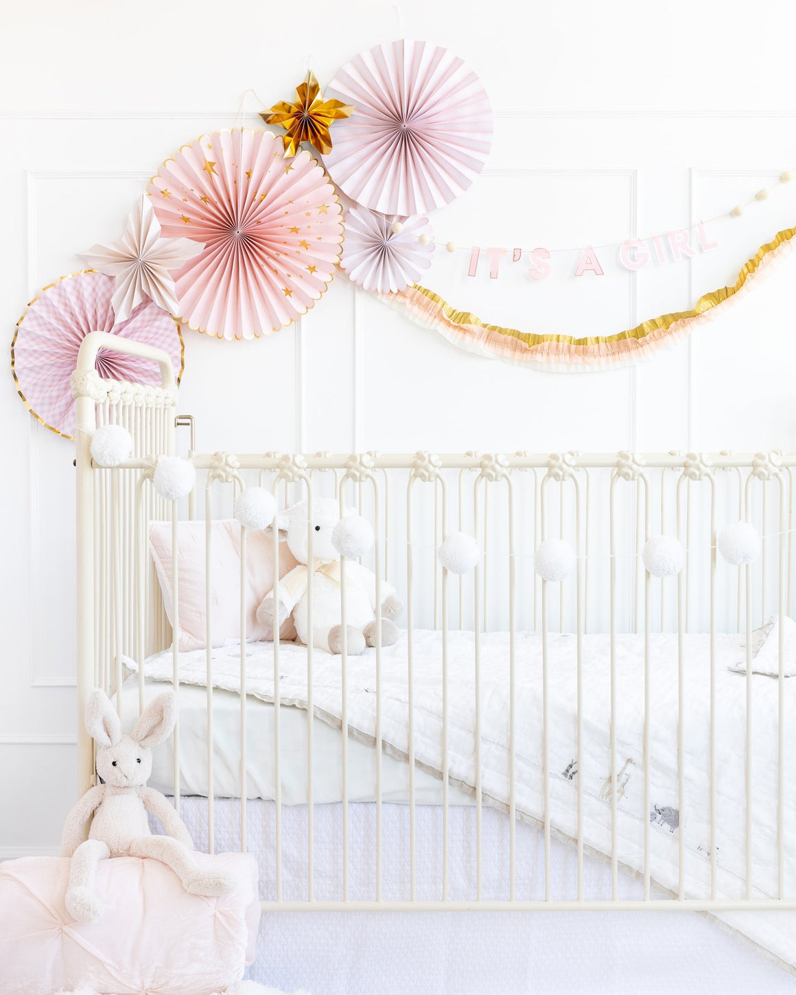 PARTY FANS - PINWHEELS BABY PINK
