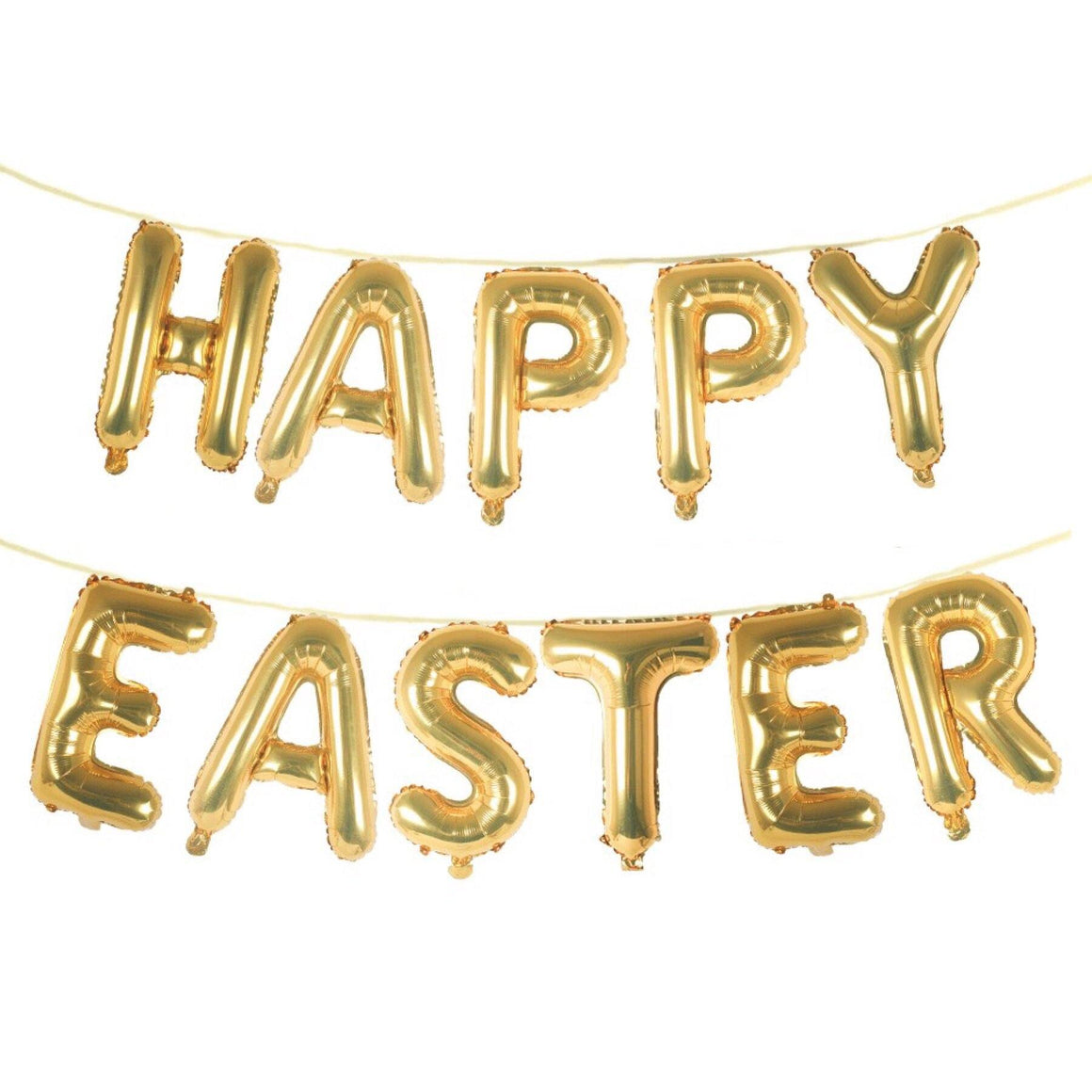 BALLOON BANNER - HAPPY EASTER GOLD, Balloons, Anagram - Bon + Co. Party Studio