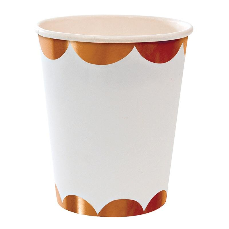 CUPS - MERI MERI ROSE GOLD SCALLOP
