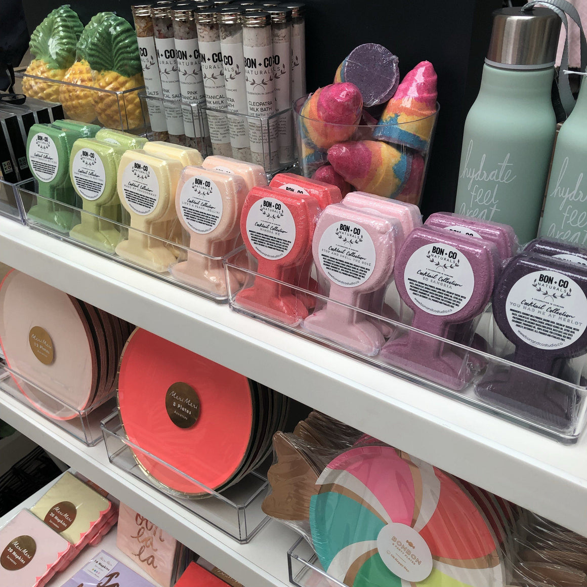 ARTISAN BATH BOMB - STOP AND SMELL THE ROSÉ, BATH, Crafted Bath - Bon + Co. Party Studio