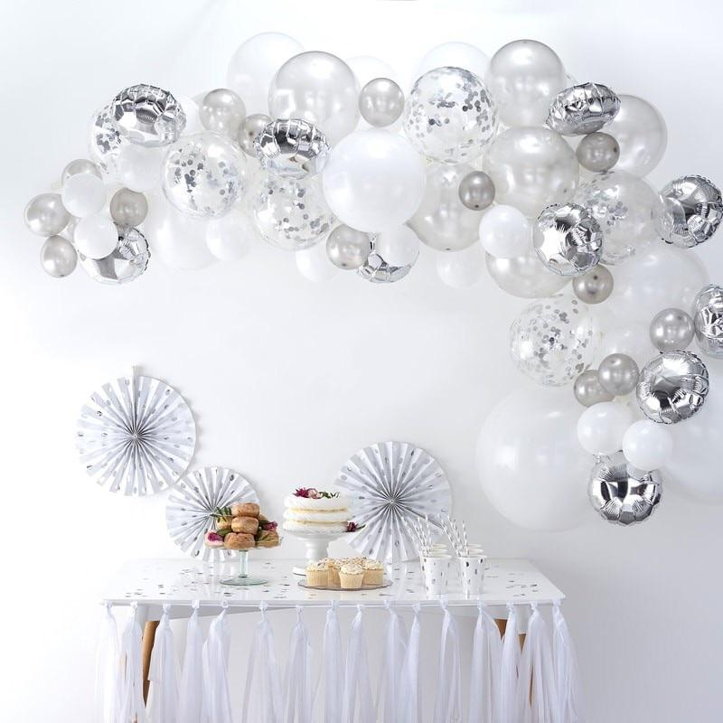 BALLOON ARCH - SILVER GINGER RAY, Balloons, GINGER RAY - Bon + Co. Party Studio