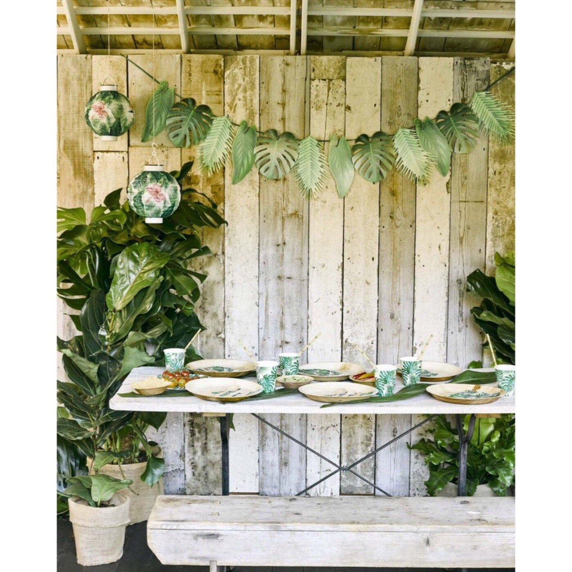 BANNER - FIESTA PALM LEAF, Buntings, TALKING TABLES - Bon + Co. Party Studio