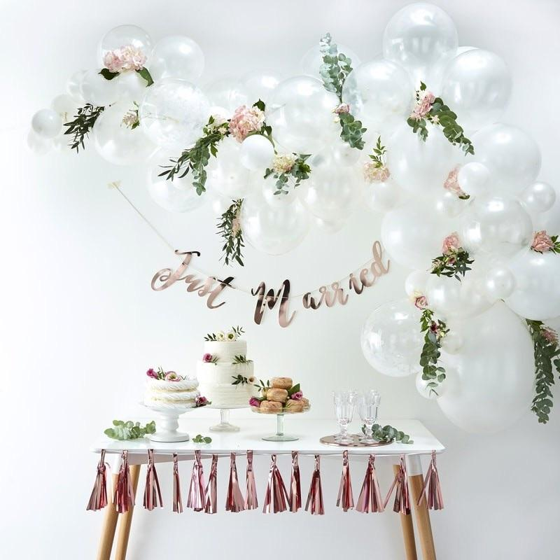 BALLOON ARCH - WHITE GINGER RAY, Balloons, GINGER RAY - Bon + Co. Party Studio