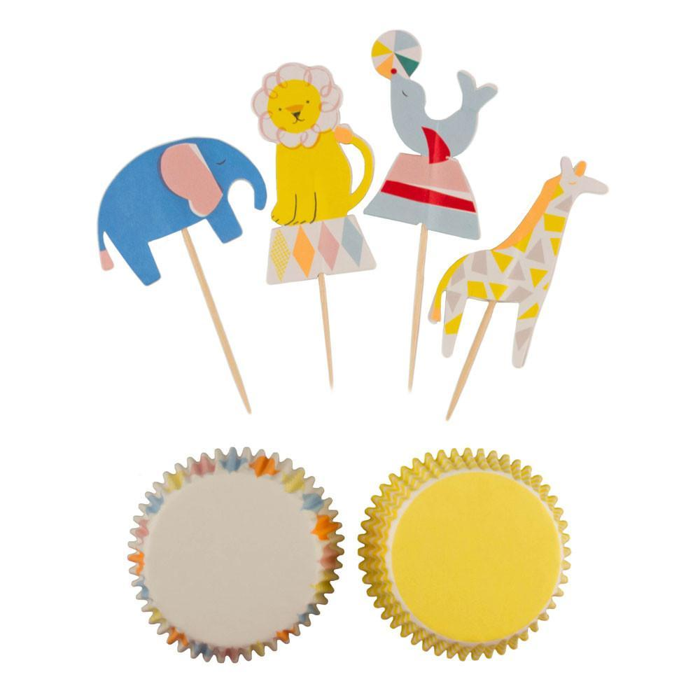 CUPCAKE KIT - MERI MERI SILLY CIRCUS, Picks + Toppers, MERI MERI - Bon + Co. Party Studio