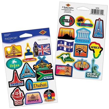 STICKERS - AROUND THE WORLD