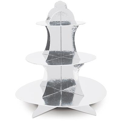 TREAT STAND - METALLIC SILVER, TREAT STAND, SKS - Beistle Co - Bon + Co. Party Studio