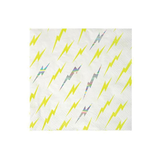 NAPKINS - COCKTAIL ZAP LIGHTENING BOLT, NAPKINS, MERI MERI - Bon + Co. Party Studio
