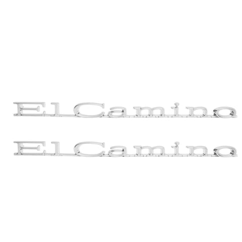 "1971-1975 El Camino Front Fender Emblem, ""El Camino"", Sold as a Pair"