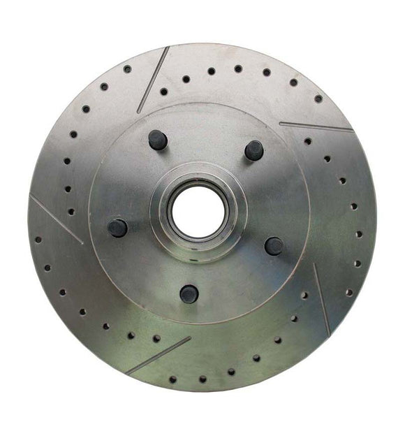 1964-1972 GM A, F, X Body & 1955-1970 Full Size Chevy Drilled/Slotted Rotor (Drivers Side)