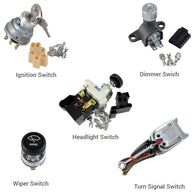 Switch Kit - Headlight, Dimmer, Turn signal, Ignition and Wiper Switch