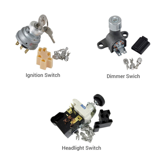 Switch Kit - Headlight, Ignition, and Dimmer