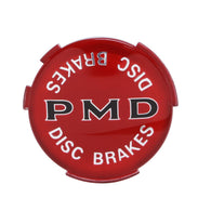"Wheel Cover Emblem, 2 7/16"" Diameter, Red, Disc Brakes, Sold as Each"