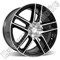 ALY03887U45 ALLOY WHEEL- 19 X 9- 5 DOUBLE SPOKES- 5 LUG- 4.5 INCH BP- FRONT-
