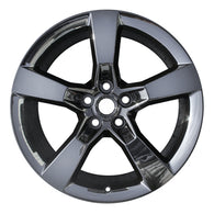 ALY05444U97 ALLOY WHEEL- 20 X 8- 5 FLAT SPOKES- 5 LUG- 120MM BP- DARK PVD CHROME