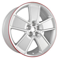 ALY05549U10 ALLOY WHEEL- 21 X 8.5- 5 SPOKES- 5 LUG- 120MM BP- FRONT- MACHINED