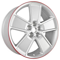 ALY05550U10 ALLOY WHEEL- 21 X 9.5- 43MM OFFSET- 5 SPOKES- 5 LUG- 120MM BP- REAR-