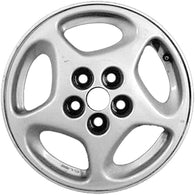ALY62289L10 ALLOY WHEEL- 16 X 8.5- 5 SPOKES- 5 LUG- 4.5 INCH BP- REAR- SILVER