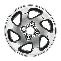 ALY62324U10 ALLOY WHEEL- 14 X 5.5- 6 SLOTS- 4 LUG- 100MM BP- SILVER