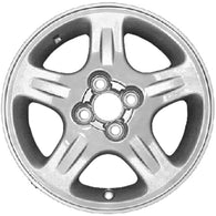 ALY62325U30 ALLOY WHEEL- 15 X 5.5- 5 SPOKES- 4 LUG- 100MM BP- ALL PAINTED DARK
