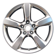 ALY62455U78 ALLOY WHEEL- 18 X 8- 5 SPOKES- 5 LUG- 4.5 INCH BP- HYPERSILVER
