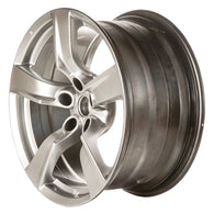 ALY62546U78 ALLOY WHEEL- 18 X 9- 5 SPOKES- 5 LUG- 4.5 INCH BP- REAR- HYPERSILVER