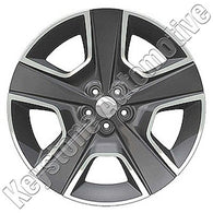ALY02437U20 ALLOY WHEEL- 20 X 8- 24MM OFFSET- 5 SPOKES- 5 LUG- 4.5 INCH BP- ALL