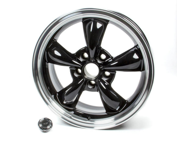 17x7 Torq Thrust M Wheel Gloss Black Machined Lip