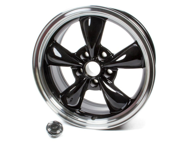 17x8 Torq Thrust M Wheel Gloss Black Machined Lip