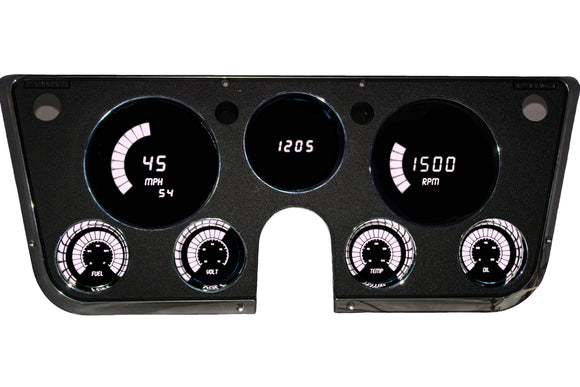 LED Digital Replacement Gauge Panel (67-72 Chevy) Baragraph Direct Replacement Gauge Cluster