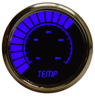 "LED Analog Bargraph Water Temp Gauge 2  1/16"" 160 to 240 Degrees F°  w/chrome bezel (Includes sender)"