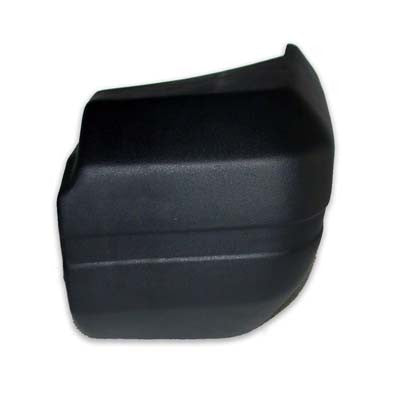 CH1105137 1984-1996 JEEP CHEROKEE_(MIDSIZE) PASSENGER SIDE REAR BUMPER END- BLACK TEXTURED- WITHOUT HOLE IN BUMPER - PLASTIC