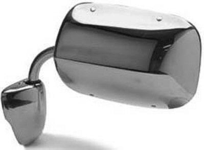 CH1320119 1984-1993 DODGE VAN_DODGE_FULLSIZE(-2003) DRIVER OR PASSENGER SIDE MANUAL DOOR MIRROR- LOW MOUNT- FOLDAWAY- CHROME