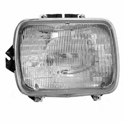 CH2500104 1984-2001 JEEP CHEROKEE_(MIDSIZE) DRIVER SIDE HEADLIGHT SEALED BEAM- INCLUDES LAMP/BUCKET AND CHROME TRIM RING- FITS DRIVER SIDE 1984-1996 AND PASSENGER SIDE 1997-2001